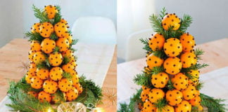 Елка из мандаринов