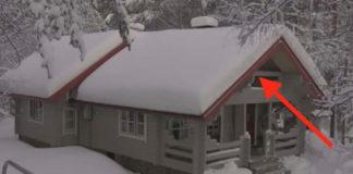 как убрать снег с крыши