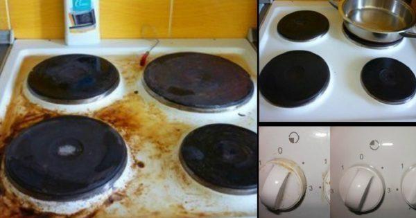 как помыть плиту