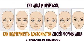 формы лица и прически к ним