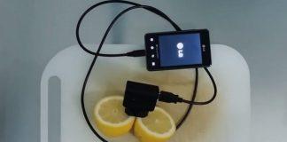 Как зарядить телефон с помощью лимона
