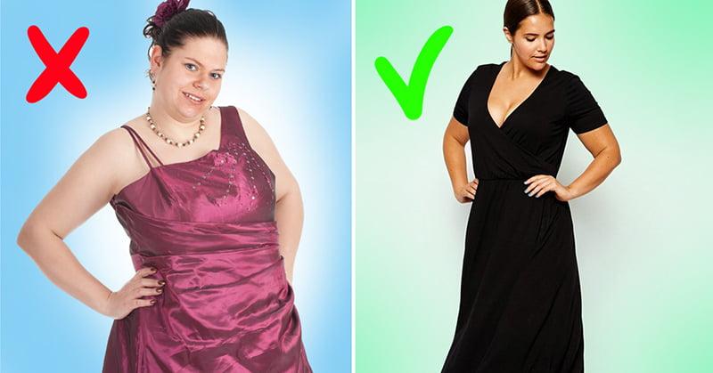 256262bf8a7 6 правил выбора платья для полных девушек. Советы от модного ...