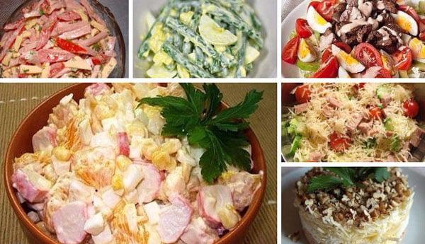 7 салатов к Новому году