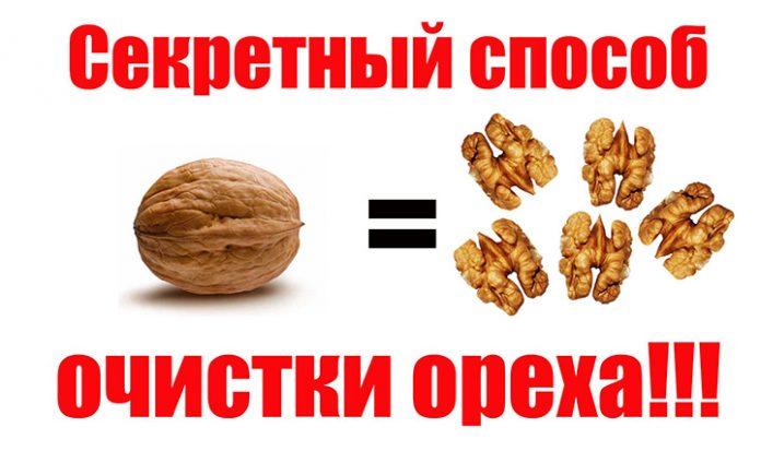 чистка грецких орехов от скарлупы