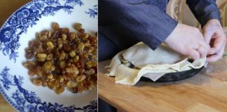 Пирог с рисом и изюмом