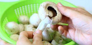 Как чистить грибы